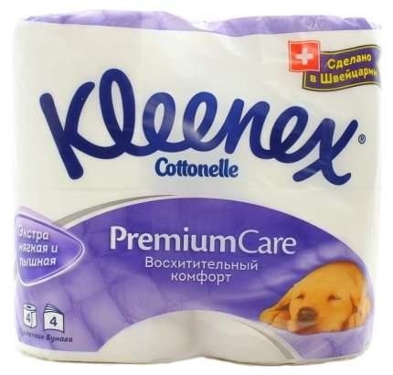 Туалетная бумага Kleenex Премиум Комфорт 4-ех слойная 4 шт.