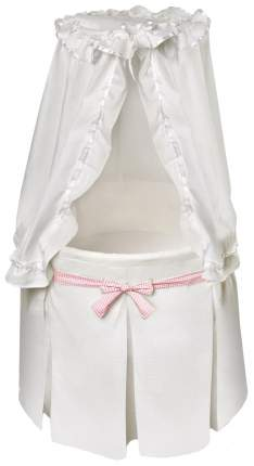 Кроватка-люлька Badger Basket Empress White Bedding with 3 Gingham Belts