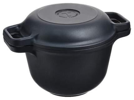 Казан Нева Металл Посуда Титан с крышкой-сковородой 3л 9830