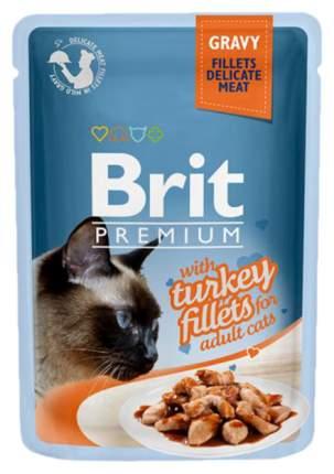 Влажный корм для кошек Brit Premium, индейка, 85г