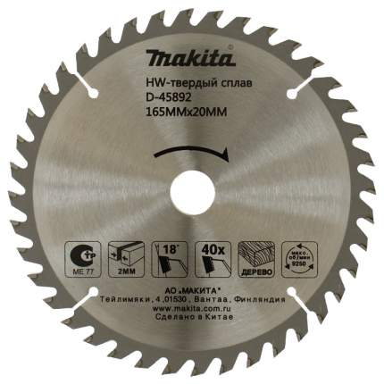 Пильный диск Makita  D-45892