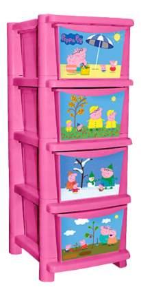 Комод детский Plastic Republic Свинка Пеппа розовый