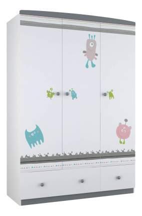 Шкаф детский Polini Basic Монстрики белый-серый