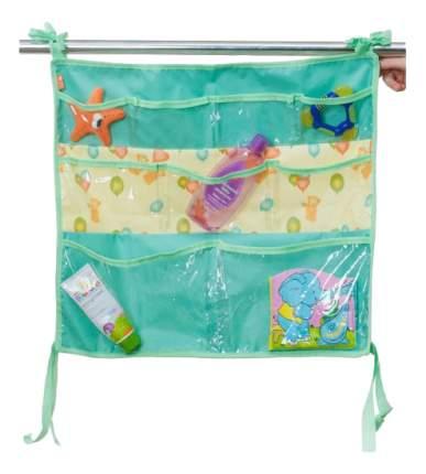 Текстильный карман в детскую кроватку Чудо-Чадо Капитошка зеленый