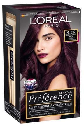 Краска для волос L'Oreal Paris Preference 5.26 Изысканный Бордо