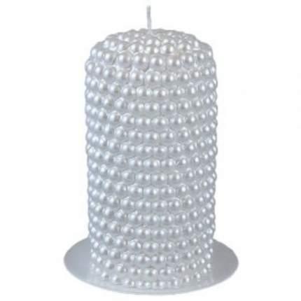 Декоративная свеча Жемчужная 130*65 мм, белая 7511