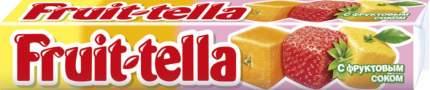 Конфеты Fruit-tella жевательные с фруктовым соком ассорти 41 г