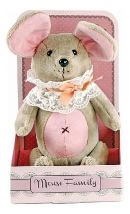 Мягкая игрушка Fluffy Family мышка Вaby mouseНеженка 26 см розовый серый 681210