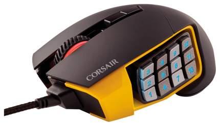 Проводная мышка Corsair Scimitar PRO RGB Yellow/Black (CH-9304011-EU)