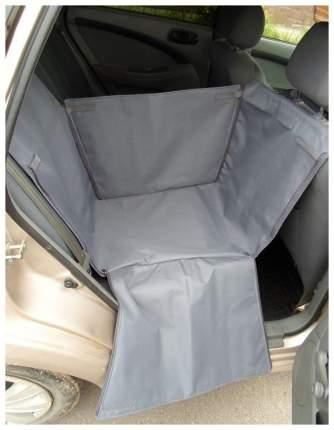 Автогамак для перевозки собак с мягкой защитой дверей на 1/3 сиденья (серый)