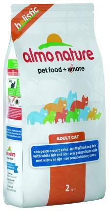 Сухой корм для кошек Almo Nature Holistic, рыба и коричневый рис, 2кг