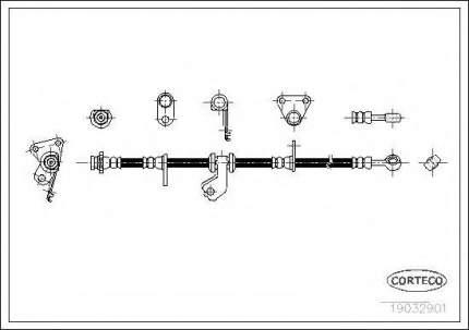 Шланг тормозной системы Corteco 19032901