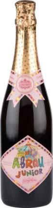 Напиток сильногазированный Abrau Junior розовое из виноградного сока стекло 0.75 л