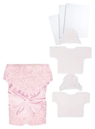 Комплект на выписку для новорожденных Крошкин дом с бантом розовый