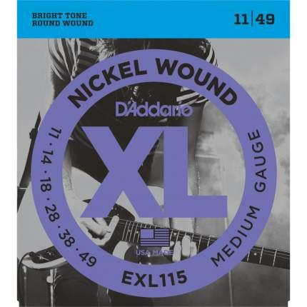 Струны для электрогитары D ADDARIO EXL115