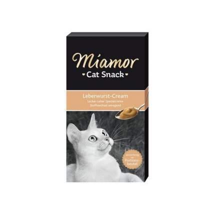 Лакомство для кошек MIAMOR Ливерный крем, 15г, 6шт