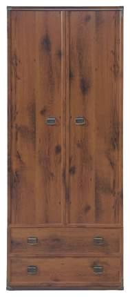 Платяной шкаф BlackRedWhite Индиана JSZF 2d2s BRW_00004893 80х57х195,5, дуб шутер