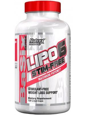Жиросжигатель Nutrex Lipo-6 Stim-Free, 120 капсул