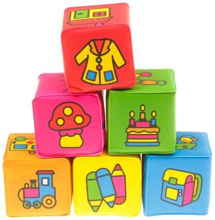 Развивающие игрушки для ванны Кубики - Учим предметы, 6 шт. Крошка Я