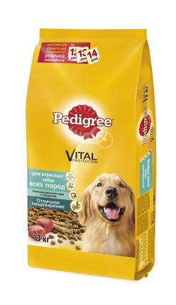 Сухой корм для собак Pedigree Vital Protection все породы, говядина, 13кг