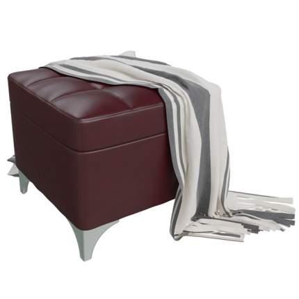 Банкетка 6-5113 Жозефина-2, бордовая искусственная кожа (бордовый БАШ), ШхГхВ 46х46х45 см