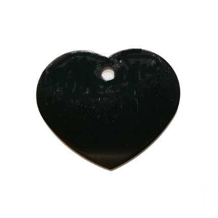 Адресник на ошейник для собак BestforPet, в форме сердца, черный, 3,2см
