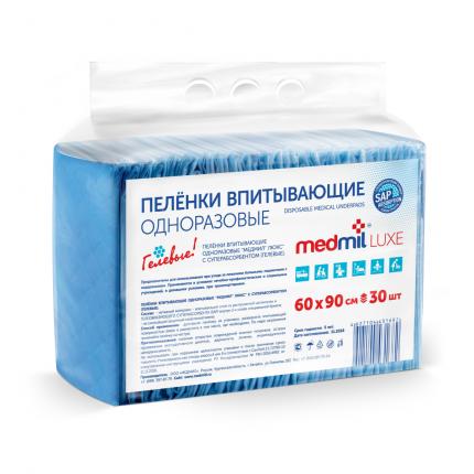 Пеленки для взрослых Medmil Luxe впитывающие гелевые с САПом 60 х 90 30 шт.