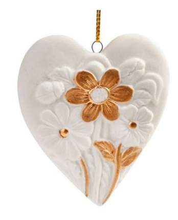 Елочная игрушка Феникс Present сердце, 7x6,6x1 см