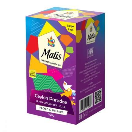 Чай Matis Цейлонский рай черный 200 г