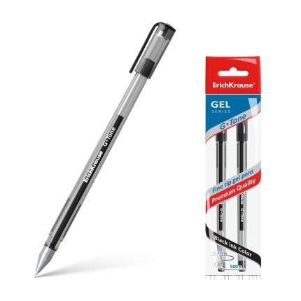 Ручка гелевая ErichKrause® G-Tone, цвет чернил черный (в пакете по 2 шт.)