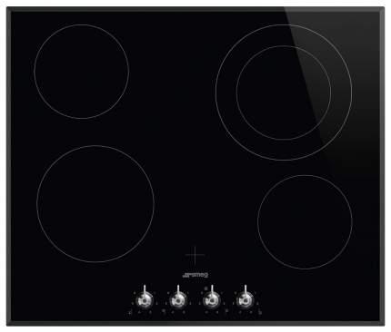 Встраиваемая варочная панель электрическая Smeg SE364ETBM Black