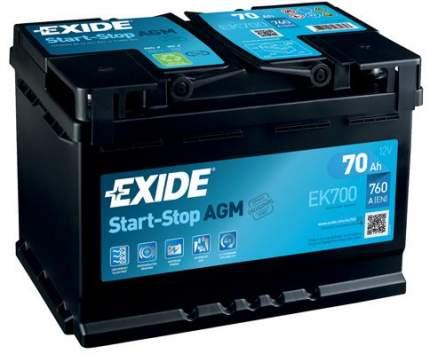 Аккумулятор автомобильный EXIDE EK700 70 Ач