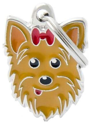 Адресник для собак My Family Friends Йоркширский терьер (2,5 х 2,5 см, )
