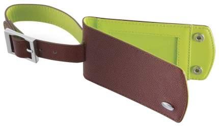 Бирка для багажа Dalvey 909 коричневая/зеленая
