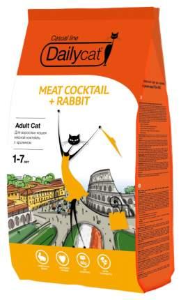 Сухой корм для кошек Dailycat Casual Line, мясной коктейль с кроликом, 10кг
