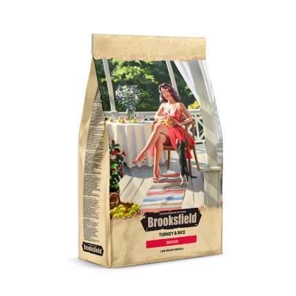 Сухой корм для кошек BROOKSFIELD Indoor, для домашних, индейка и рис, 0,4кг