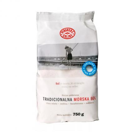 Соль морская Piranske Soline нерафинированная неразмолотая 750 г