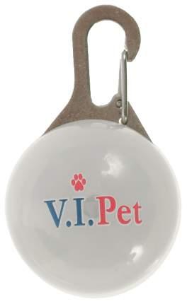 Подвеска-маячок для кошек и собак V.I.Pet круг, пластик