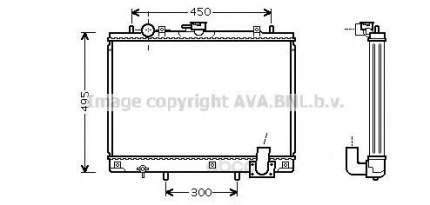 Pадиатор системы охлаждения мкпп Mitsubishi L200 96-01 Ava MT2161