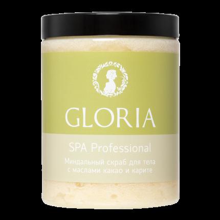 Скраб миндальный для тела GLORIA с маслами какао и карите 1000 мл