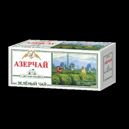 Чай зеленый  Азерчай с жасмином 25 пакетиков