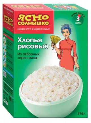 Хлопья рисовые ПМК ясно солнышко 375  г