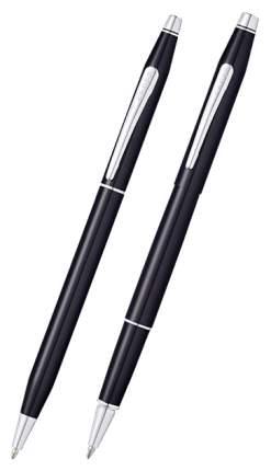 Набор подарочный Cross Classic Century - Black Lacquer, шариковая ручка + ручка-роллер