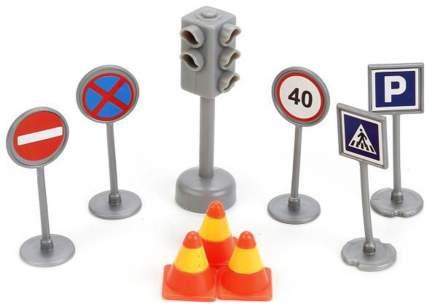 Набор дорожных знаков Технопарк Светофор + дорожные знаки SB-17-21-BLC