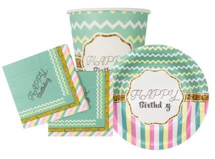 Набор одноразовой посуды  Патибум Happy Birthday Тиффани