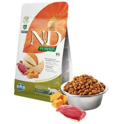 Сухой корм для кошек Farmina N&D, беззерновой, утка, тыква и дыня, 1,5кг