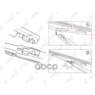 Щетка стеклоочистителя LYNXAUTO lr35t