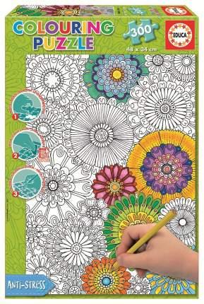 Раскраска EDUCA 17090 Пазл Цветы 300 дет