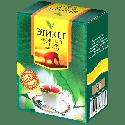 Чай черный Этикет индийский крепкий 100 г