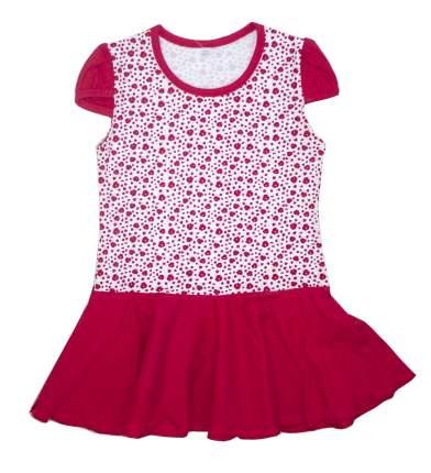 Платье для девочек Осьминожка красный р.110